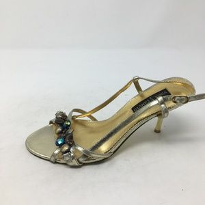 VINCE CAMUTO GOLD BEADED HEELS 7.5B